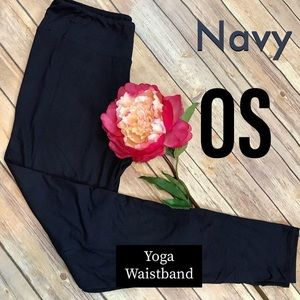 Pants - Butter Soft Solid Navy Yoga Waistband Leggings NWT